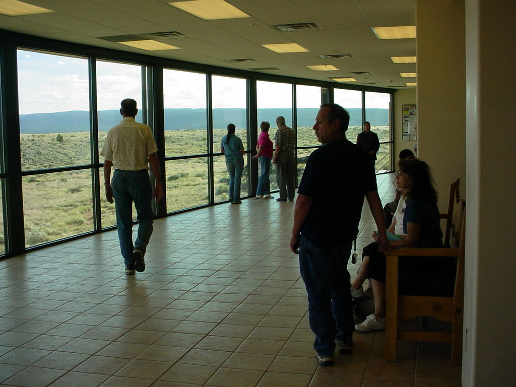 The main lobby in the Northwest New Mexico Visitor Center.