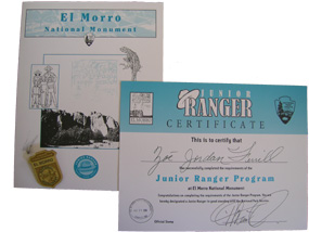 This junior ranger badge, certificate, and book can be yours!