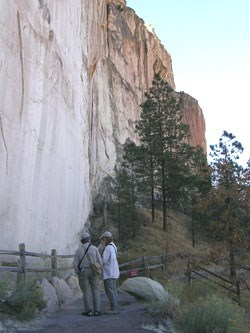 Visitors enjoy the Inscription Loop Trail