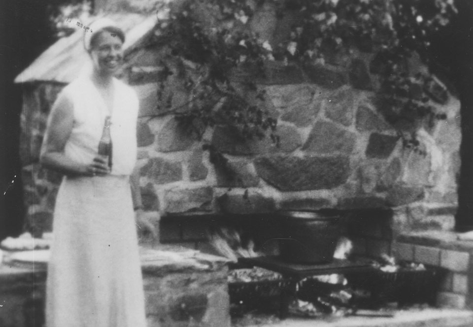 Eleanor Roosevelt at Val-Kill Firepit