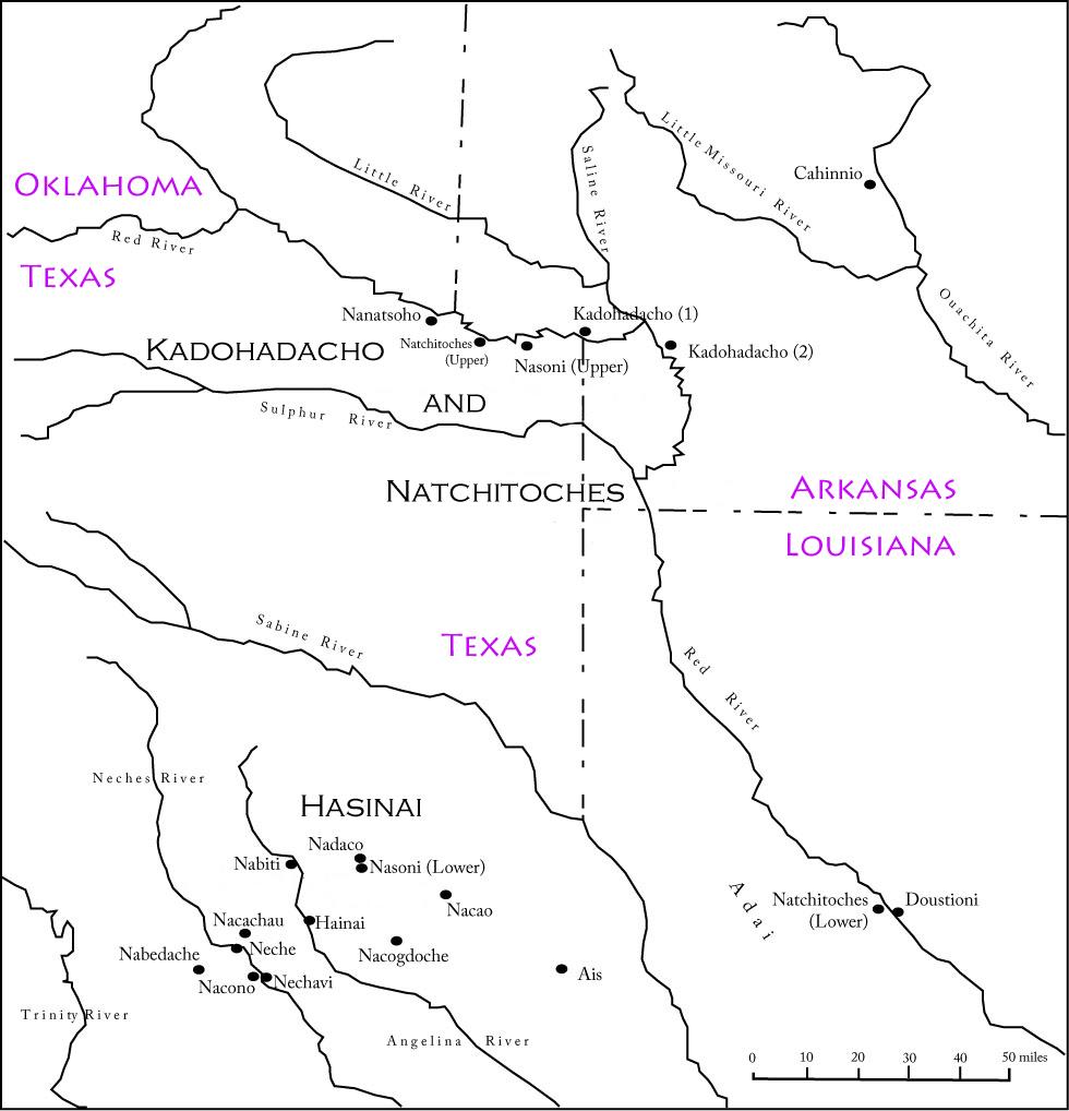 Map Of Texas Oklahoma And Louisiana.Early Caddo History El Camino Real De Los Tejas National Historic