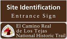 site id entrance sign