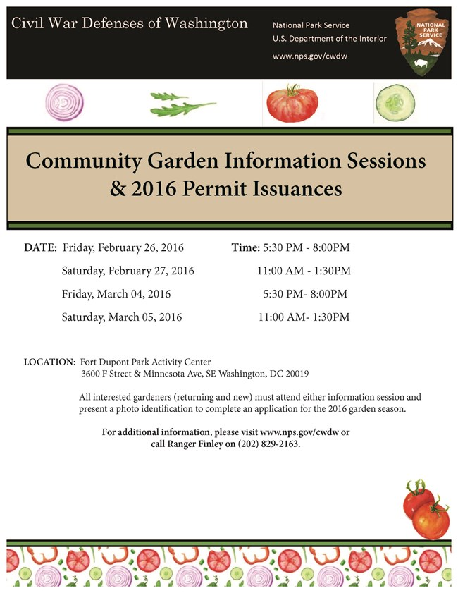 Garden Information Sessions