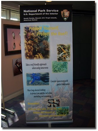Coral Reef Roll Up Display
