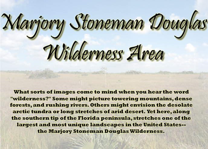 Description of Marjory Stoneman Douglas Wilderness