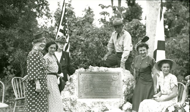 Dedication of Royal Palm State Park.