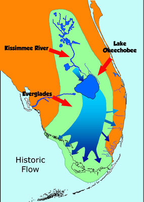 Florida Rivers Map.Water Water Everywhere Everglades National Park U S National