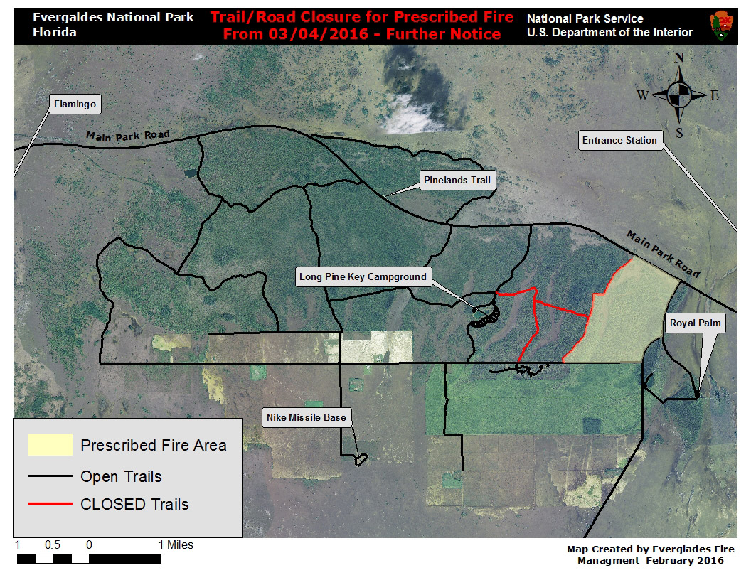 Block J trail closure for prescribed fire from April 4 until further notice