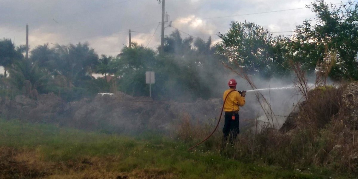 Everglades Fire staff assist Florida Forest Service in suppression of wildfires in the mutual response zone adjacent to Everglades National Park