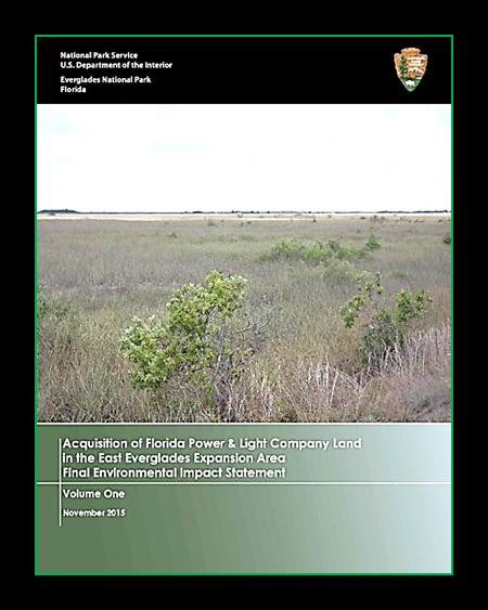 Acquisition of Florida Power and Light Company Land in the East Everglades Expansion Area Volume 1 Cover