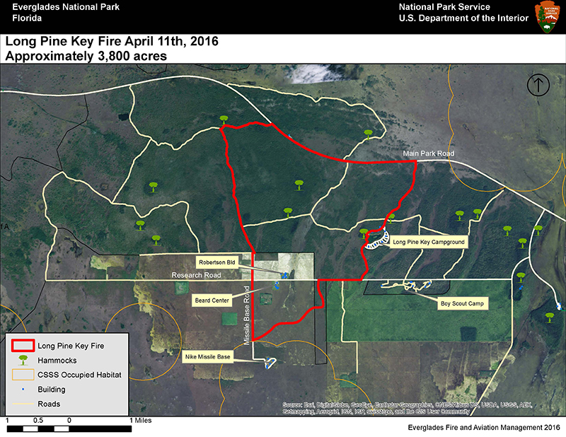 Current Fire Activity Everglades National Park US National - Map of fire risk us