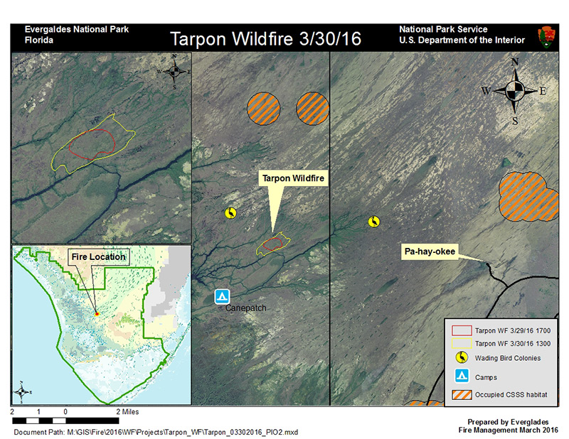 Map of Tarpon Wildfire