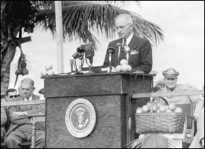 Truman dedicating Everglades National Park in 1947
