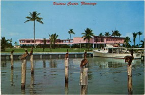 Vintage postcard of the Flamingo Visitor Center