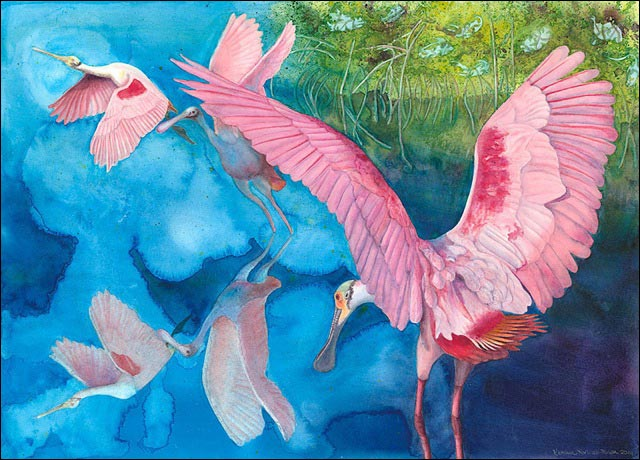 Sophie's Hope, a watercolor painting by Nature Illustrator and Artist Kathleen Konicek-Moran