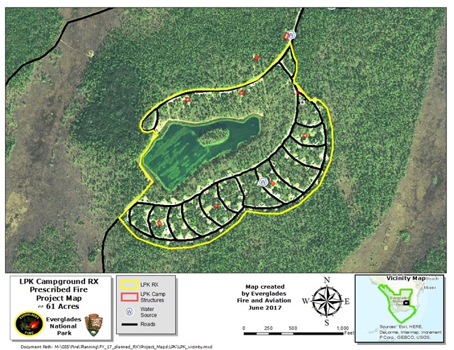 Map of LPK Campground Rx Burn