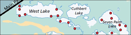 Location of Select Mangrove Lake Sampling Sites in Everglades National Park