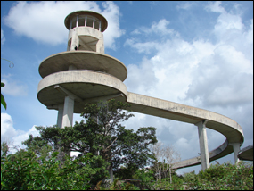 The Shark Valley Observation Tower is a classic example of Mission 66 architecture