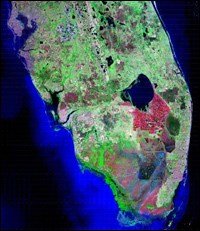 NASA satellite image of south Florida