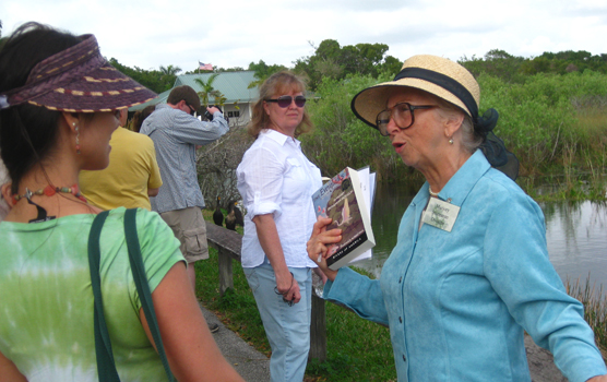 Barbara Hedges portraying Marjory Stoneman Douglas