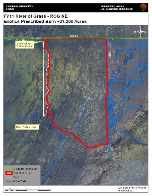 Map of Prescribed Burn Nov 29 and 30