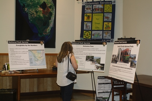Public Meeting participants views Posters explaining proposal to increase park recreation fees