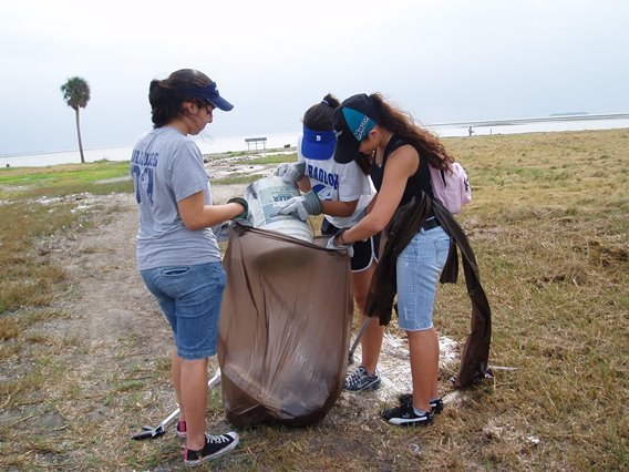 Volunteers Help the park in many ways - here they are picking up trash
