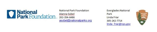 Joint National Park Foundation and Everglades National Park News Release
