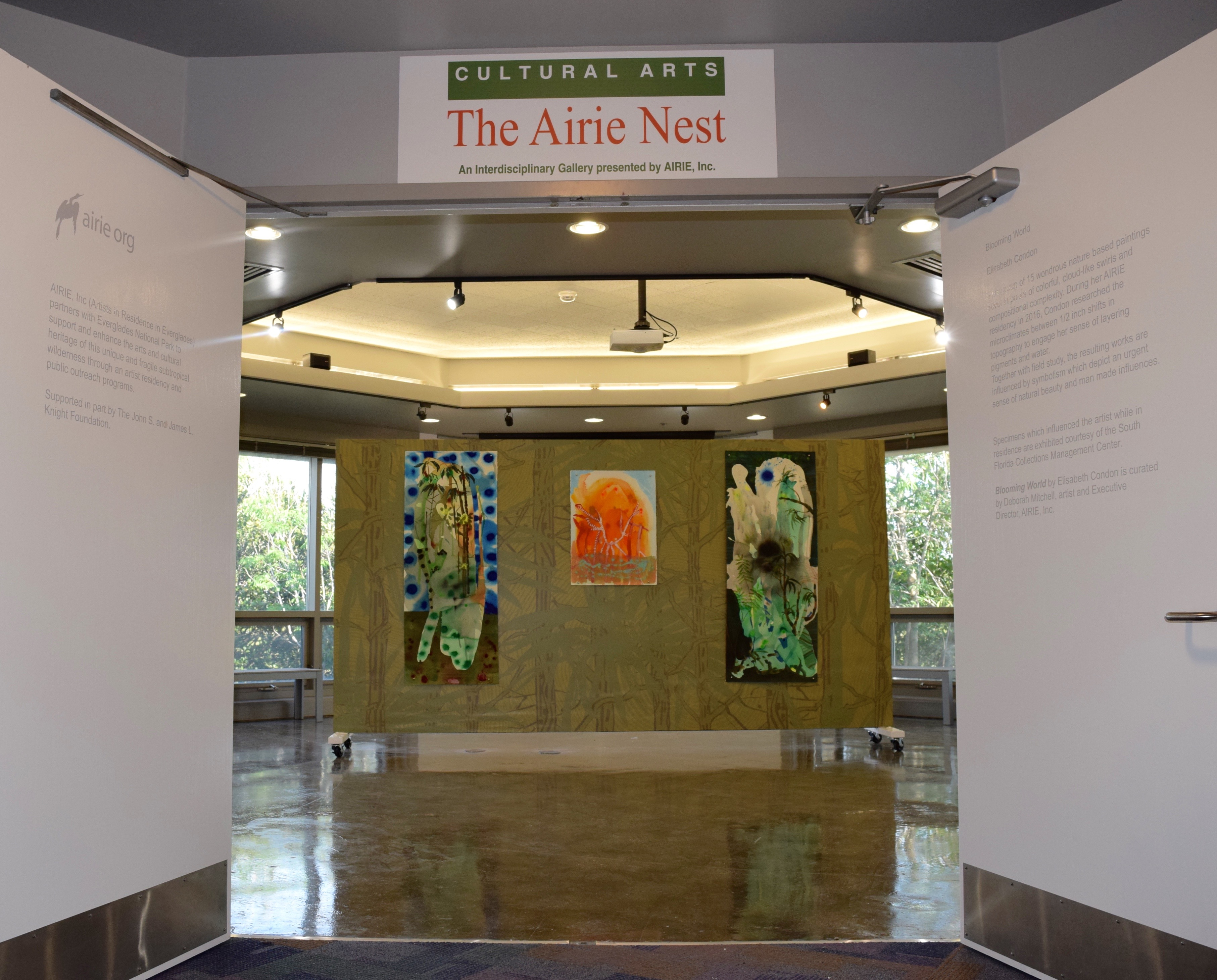 entrance to the AIRIE Nest art gallery