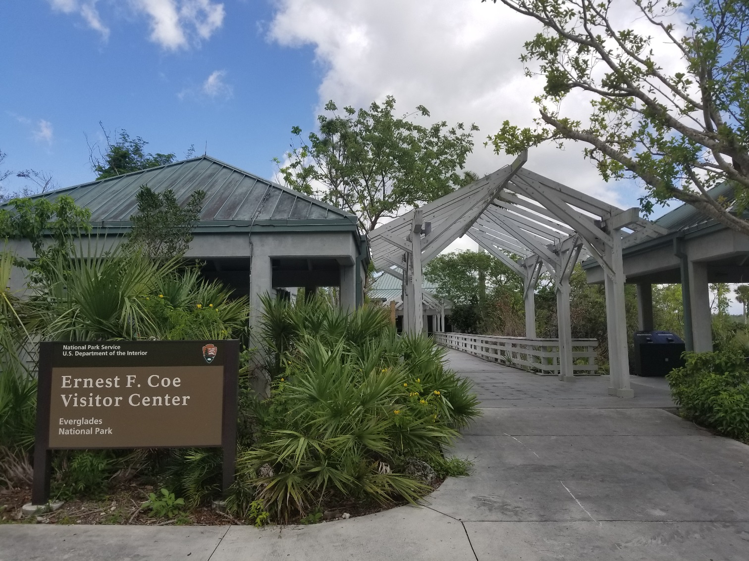 entrance to the Ernest F. Coe Visitor Center