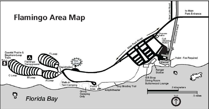 Flamingo Area Map