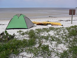 Backcountry camping in Gulf Coast