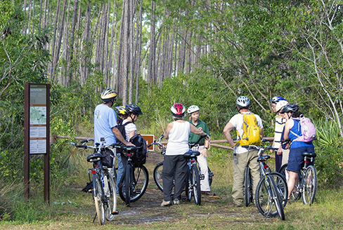 Volunteer led bike hike