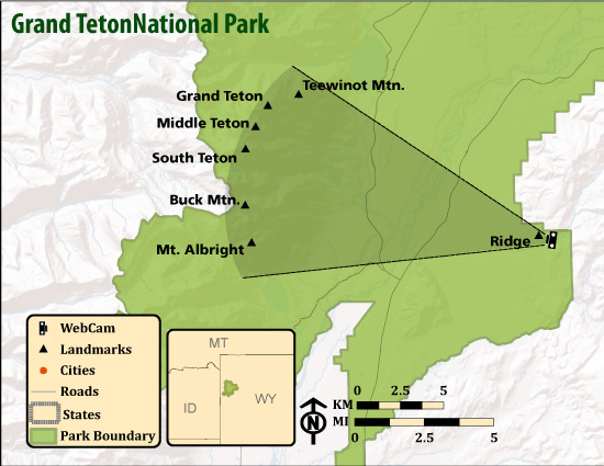 Grand Teton National Park On Us Map - Free Usa Maps