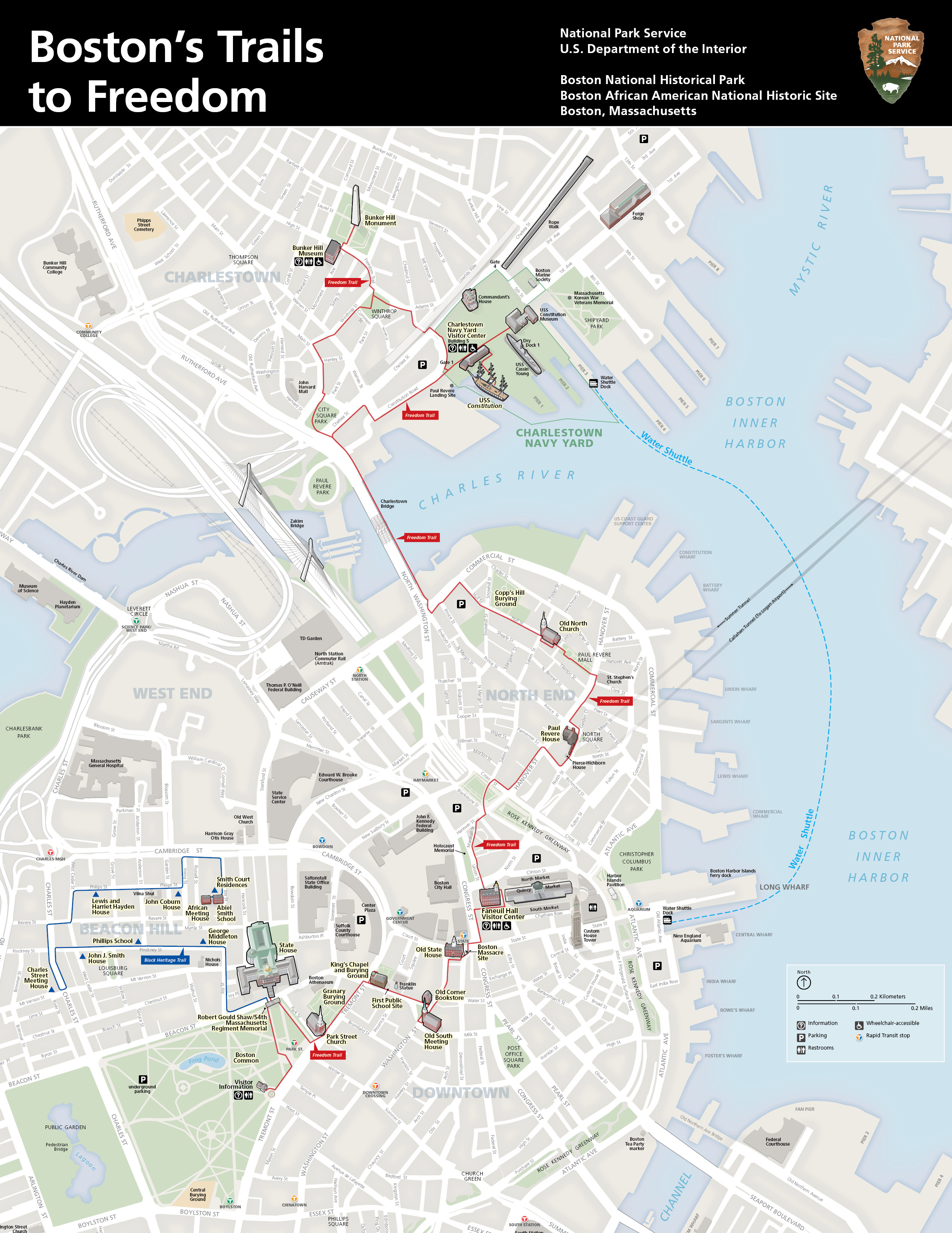 Nps boston app gosboston boston trail map gumiabroncs Choice Image