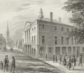 An artist's conception of Federal Hall, circa 1789
