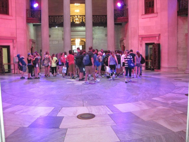Visitors at Federal Hall