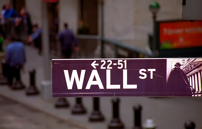 Street sign on Wall Street
