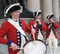 Reenactment at Federal Hall