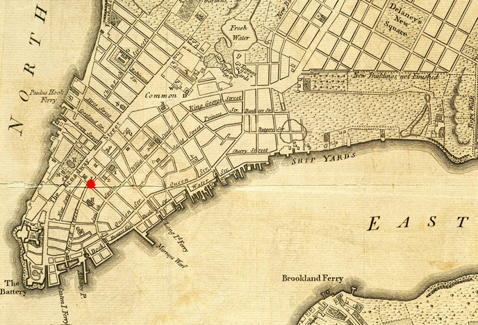 Map of Lower Manhattan - 1776