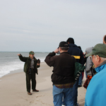 Ranger leads tour on beach