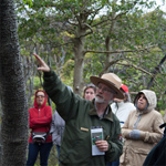 Ranger points to tree during Educators Workshop
