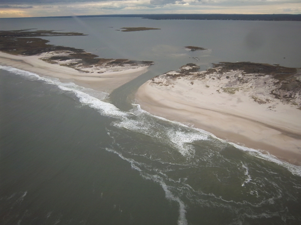 Aerial of Old Inlet Breach, looking west.