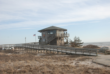Fire Island Wilderness Visitor Center and boardwalk to trail
