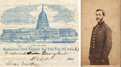 Photo of John G. Floyd, J. and a letter to his mother, written on 10-01-1862.