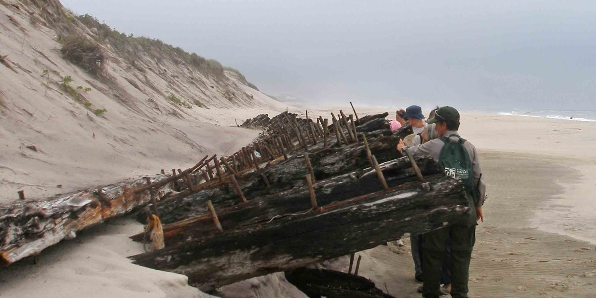 Major storms can reveal hidden treasures like the remains of the shipwreck, Bessie White