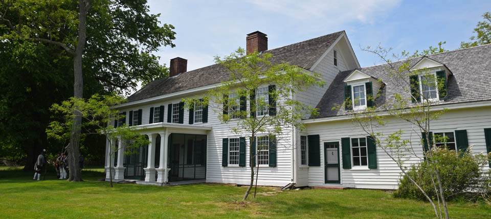 The historic Old Mastic House at the William Floyd Estate