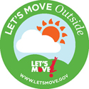 Lets Move Outside Junior Ranger logo.