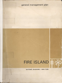 Cover of 1977 General Management Plan for Fire Island National Seashore.