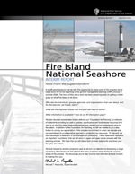 Cover of Fire Island National Seashore GMP Interim Report, Winter 2007-08